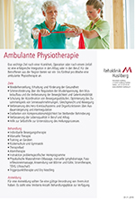 Ambulante Physiotherapie