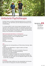 Ambulante Psychotherapie